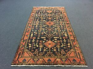 Sale S Antique Hand Knotted Persian Hamadan Rug Gallery Runner Carpet 4 2 X8 6