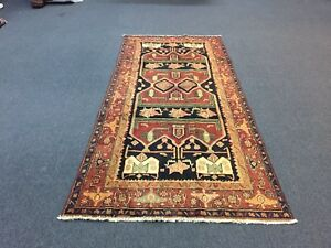 On Sale Beautiful Hand Knotted Persian Hamadan Rug Gallery Runner Carpet 4x9