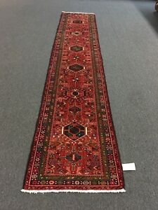 Sale Hand Knotted Persian Gharajeh Tabrizz Geometric Rug Runner Carpet2 6x12 5