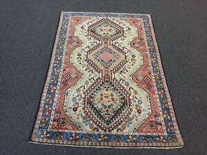 Sale Beautiful Antique Hand Knotted Persian Rug Yalameh Geometric Carpet 3 5x5 1