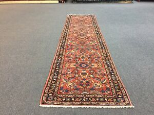 On Sale Beautiful Hamadan Knotted Persian Hamadan Rug Carpet Floral Runner 3x10