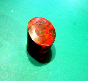 Very Rare Collectible Natural Shoushan Chicken Blood Stone Stamp Seal Uncarved