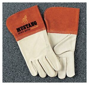 Memphis Mustang Leather Welding Gloves Sewn With Kevlar Safety Protection
