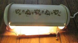 Vtg Country French Metal Toleware Wall Sconce Reading Light Cream With Gold