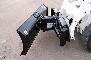 Heavy Duty 7 Foot Four Way Dozer Blade For Skid Steer Snow Plow Fits Bobcat Case