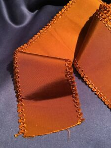 Beautiful Victorian Silk Copper Grosgrain Ribbon Fancy Edge 3 X 90