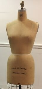 Authentic Vintage Professional Wolf 1981 Size 16 Dress Form Mannequin