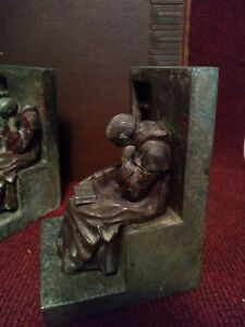 Antique Art Deco Spanish Revival Bookends Circa 1920 S Very Rare W Book