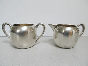 Vintage Forbes Silver Co Plated Creamer Sugar Bowl