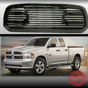 Fits 2013 2017 Dodge Ram 1500 Front Grille Big Horn Style Gloss Black
