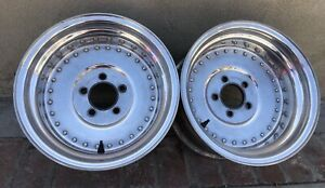 Vintage Centerline Aluminum Drag 15x8 1 2 Wheels Hot Rod Rat Nhra Scta 5x4 3 4