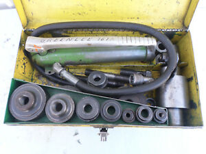 Greenlee 767a Hydraulic Punch Set pump Ram Punches