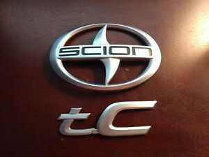 11 12 13 14 15 16 Scion Tc Rear Trunk Lid Emblem Logo Badge Sign Symbol Oem Set