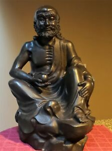 Rare Large Seated Antique Bronze Sculpture Buddha Statue Figure 23 X 12 X 13