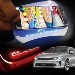 Led Wireless Battery Charger Cup Holder Door Catch Plate For Kia 2016 18 Optima