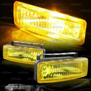 5 X 1 75 Square Chrome Yellow Bumper Fog Light Lamps Switch Relay Universal 4