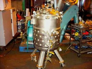 60 Gallon Stainless Steel Reactor Jacketed Pressure Tank With Mixer 50 Psi