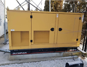 80kw Olympian Cat Generator Enclosed Propane Standby 266 Hours