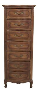 30704ec French Louis Xiv Style 7 Drawer Lingerie Tall Chest