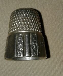 Antique Simons Brothers Sterling Silver Thimble