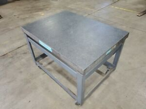 Standridge Granite Table Plate 48 X 36 35 3 4 X 6 1 4in Stand 33 3 4in Tall
