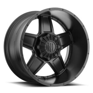 18x10 Monster Energy 543b Wheels Black 8x6 5 25 125 20 Set Of 4