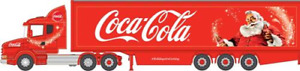 Oxford Diecast NTCAB007CC Scania T Cab Box Trailer Coca Cola Xmas N Gauge