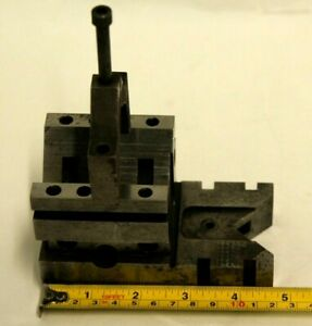 Toolmakers Machinist V block With Clamp