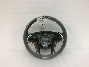 2018 2019 Cadillac Xts Steering Wheel Black Leather And Wood 84366374