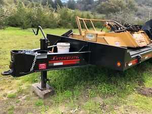 equipment Trailer Gvwr 25900 Lb Flat Bed 20dt Never Tail Ramps