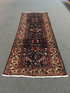 On Sale Beautiful Hand Knotted Persian Rug Geometric Runner Carpet 3x9 3 5 X9 3