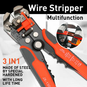 Self adjusting Insulation Auto Electric Cable Wire Stripper Cutter Crimper Tool