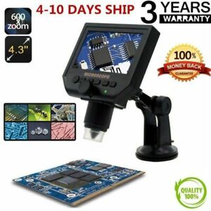 Digital Microscope 4 3 Hd Oled 3 6mp 1 600x Magnifier G600 Portable Lcd 1080p