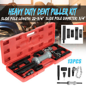 13pcs Dent Puller Universal Tool Kit 10lb Slide Hammer Car Body Repair Tool Set