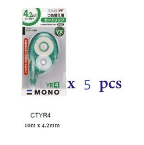Tombow Correction Tape Refill 10m X 4 2mm Ctyr4 10 Pcs