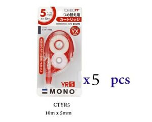 Tombow Correction Tape Refill 10m X 5mm Ctyr5 10 Pcs