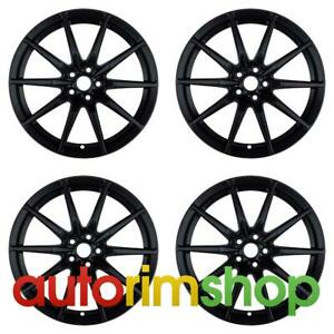 Ford Mustang 2015 2016 2017 2018 19 Oem Staggered Wheels Rims Set Black