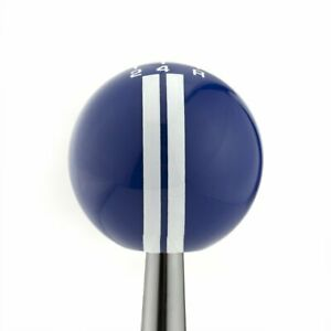 Rally Blue White Stripes Ford Mustang 5 Speed Shift Pattern Knob M16x1 5 5 0