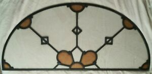 Vintage Arched Stained Glass Window 62 X27 3 4 No Breaks Local Pu Only