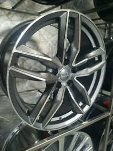 Four Brand New 17x7 5 Gunmetal Sport Style Rims For Audi A3 A4 A5