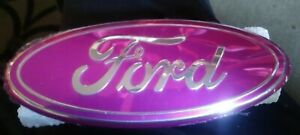 9 Multi Grille Rear Tailgate Oval Emblem For 04 15 Ford F150 Ranger Edge Pink