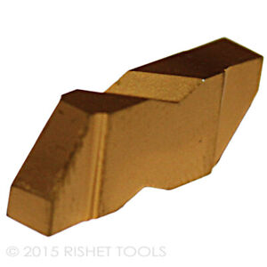 Rishet Tools Ng 3088r C5 Tin Coated Notched Grooving Carbide Inserts 10 Pcs