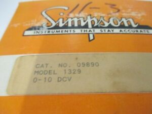 Simpson 09890 Panel Meter 0 10 Dc Volts New In Box