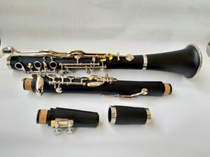 Excellent G Key Clarinet Ebonite With Case Black Good Material and Sound