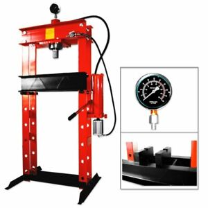 30 Ton Air Hydraulic Shop Press With Gauge Heavy Duty