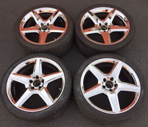 19 Mercedes Benz Cls55 Cls63 Amg Oem Wheels Rims 65375 Chrome Staggered Tires