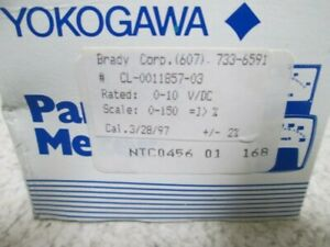 Yokogawa Ntc0456 Panel Meter 0 10v dc New In Box