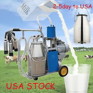 usa electric Cow Milker Milking Bucket Dairy 25l Tank Barrel Stainless Steel Ce