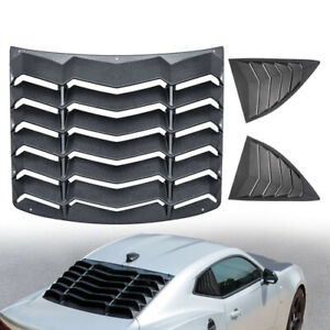Textured Black Rear And Side Window Louvers Sun Shade For Chevy Camaro 2010 2015