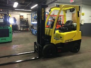 Hyster 4000 Lb Solid Pneumatic Forklift With Side Shift And 2 Stage Mast